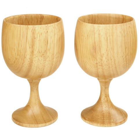 EAGLE Products Houten wijnglazen (2 stuks)