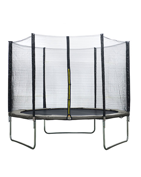 AMIGO trampoline met veiligheidsnet grijs 305 cm