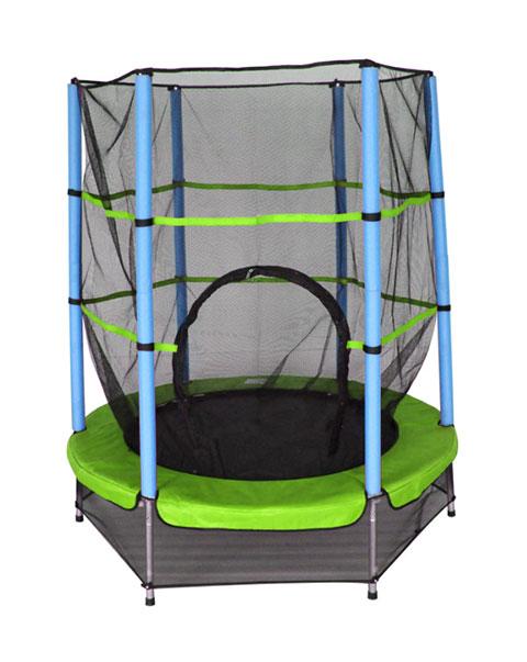 AMIGO trampoline met veiligheidsnet lichtgroen 139 cm