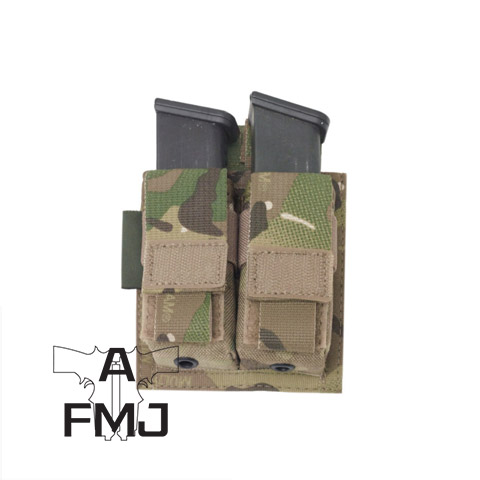 Warrior Assault Systems Direct Action Double Pistol Mag Pouch 9mm