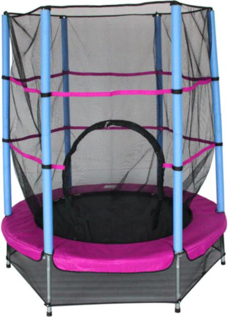 amigo trampoline 139cm roze