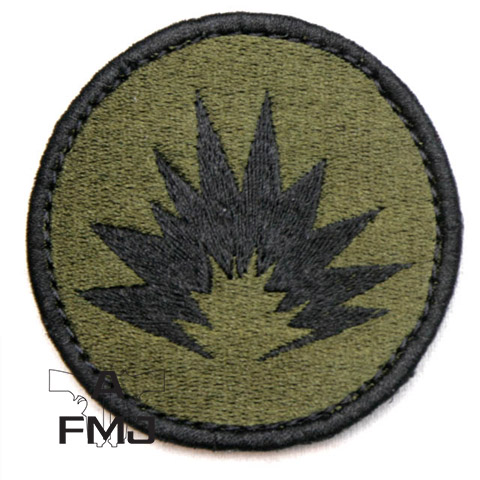 Snigel explosives patch with velcro