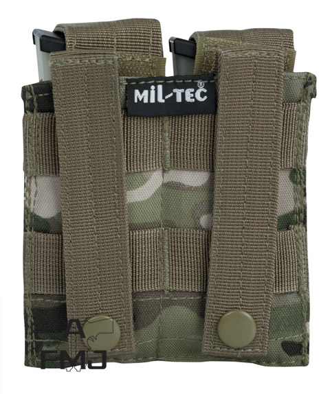 MIL-TEC Multitarn® double pistol mag pouch