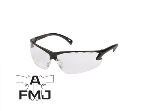 ASG Clear lens protective glasses with adjustable temples